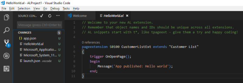 vscode changed files