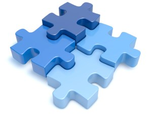 Visual representation of integration displayed by a puzzle.