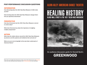 Healing History - Black Wall Street & The 1921 Tulsa Race Massacre