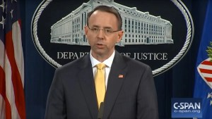TRUMP VINDICATED: Rod Rosenstein Says 'NO AMERICANS' Knew of Russian Meddling Plot