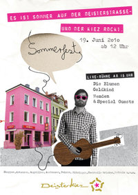 Plakat: Sommerfest im Deisterkiez