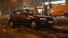 Auto am Schwarzen Bär vom Weg abgekommen (Foto: Ecki Kähne)