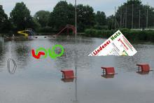 Lindener Hatz unter Wasser