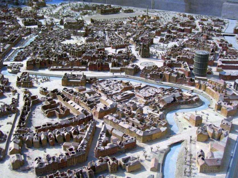 Stadtmodell von Hannover nach dem zweiten Weltkrieg