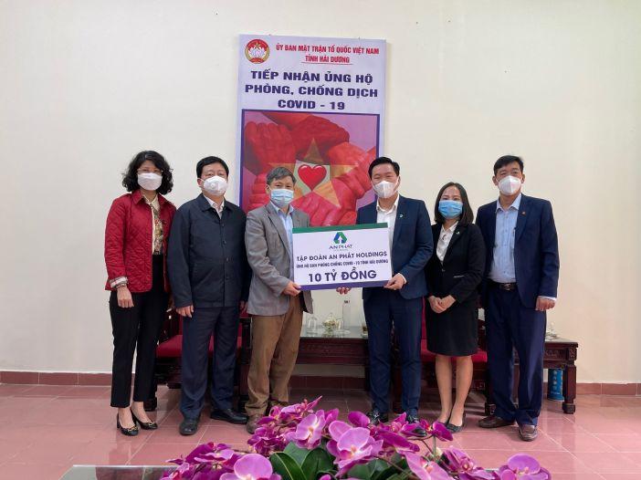 An Phát Holdings tiếp tục hỗ trợ 10 tỷ đồng tiếp sức cùng tỉnh Hải Dương chống dịch Covid-19