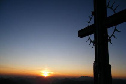 Gipfelkreuz am Hochvogel Foto@Berta Hornig