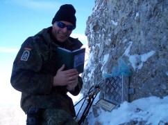 Aufstellung Gipfelkreuz am Treskoavec 2429m