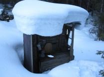 Luftiges WC Winterraum Reintalangerhütte