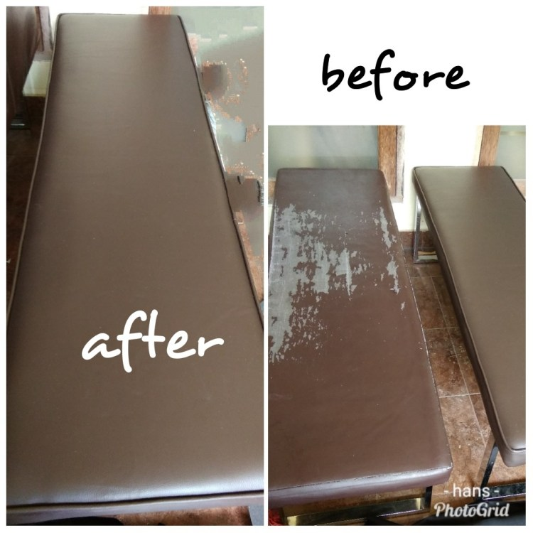 before after perbaikan sofa