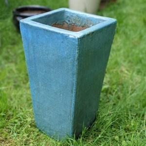 photo: blue planter