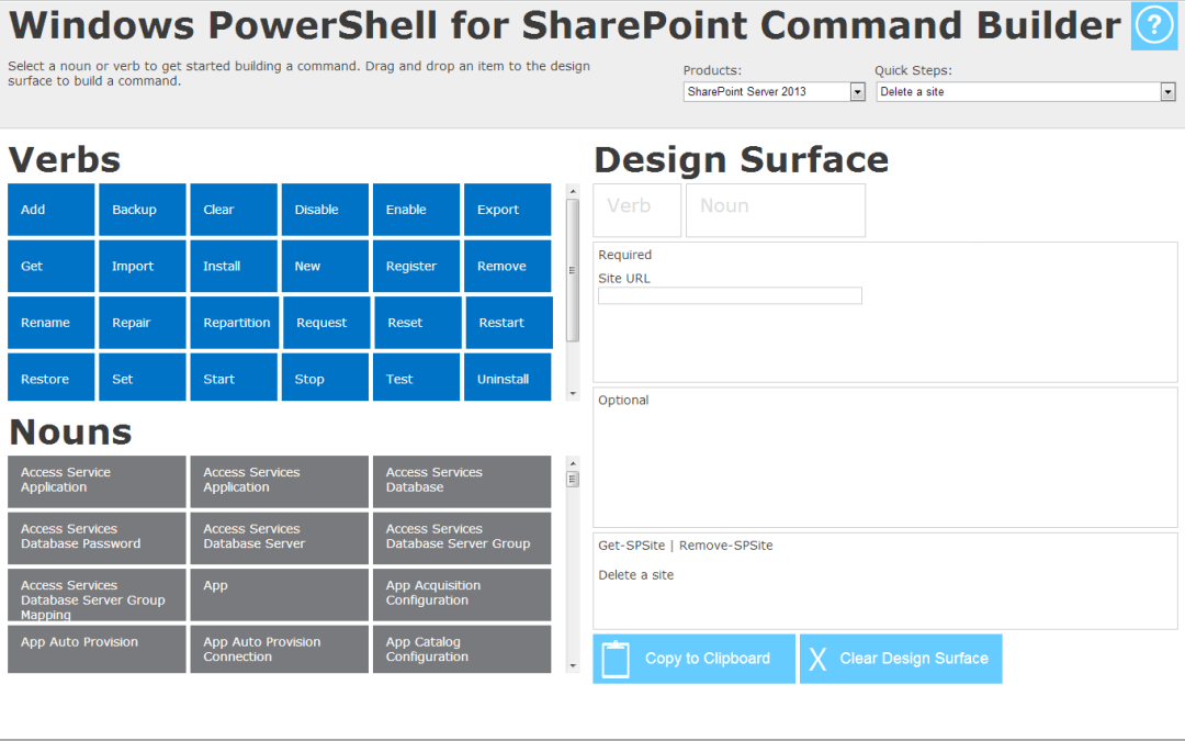 [Update]Windows PowerShell Command Builder