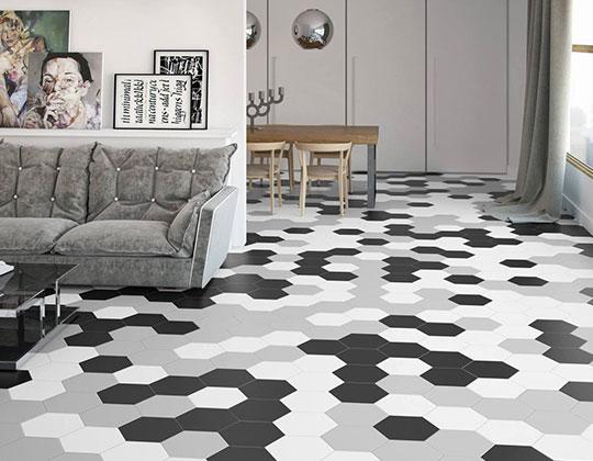 hexagon floor tiles wholesale
