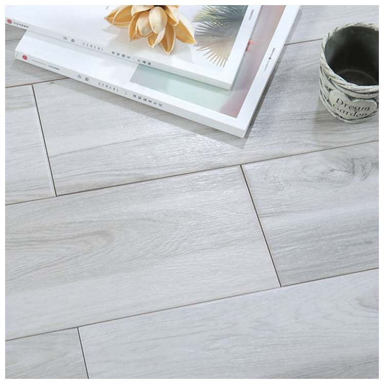 grey glazed ceramic wood tile