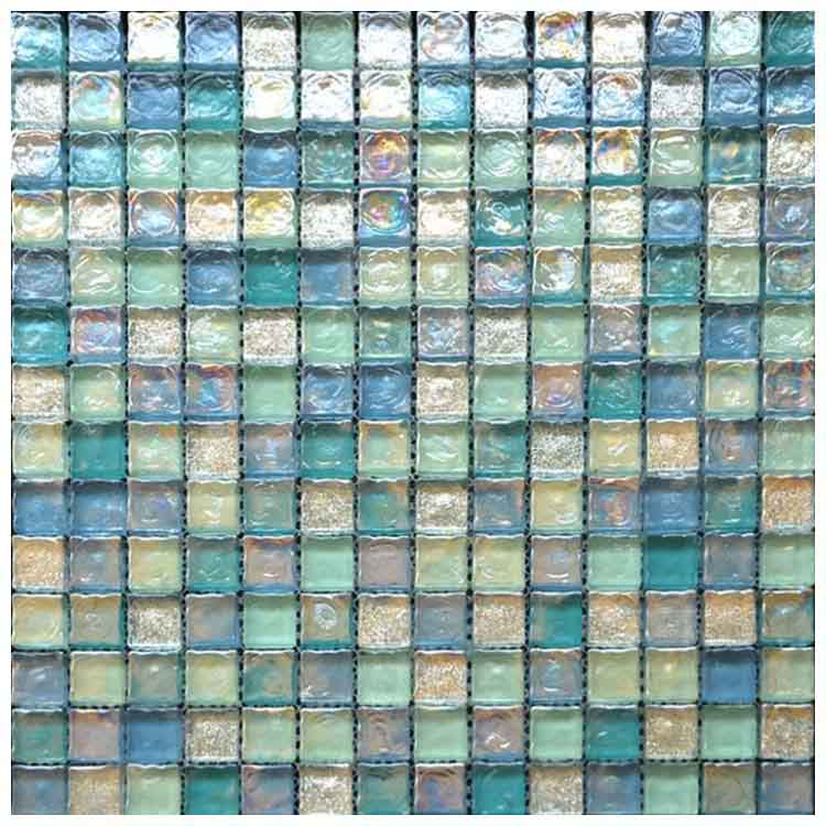 coloured polished glass mosaic tile