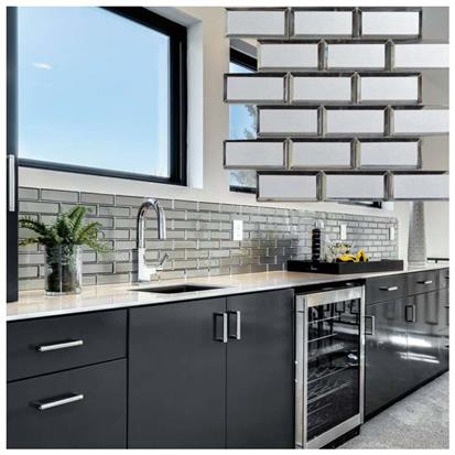 grey glass subway tiles for sale buy