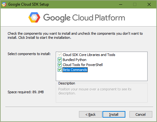Installing the Google Cloud SDK