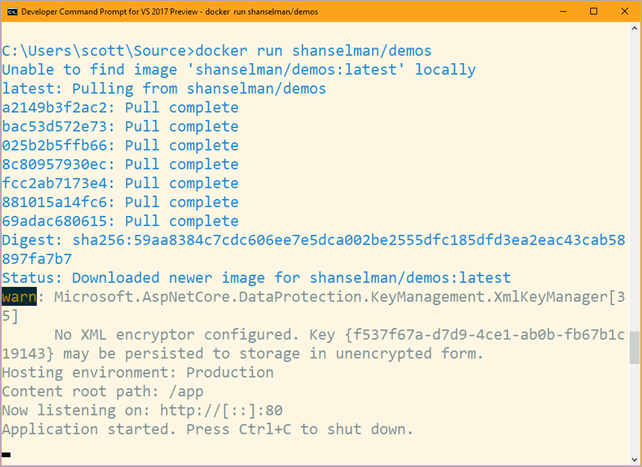 docker run shanselman/demos