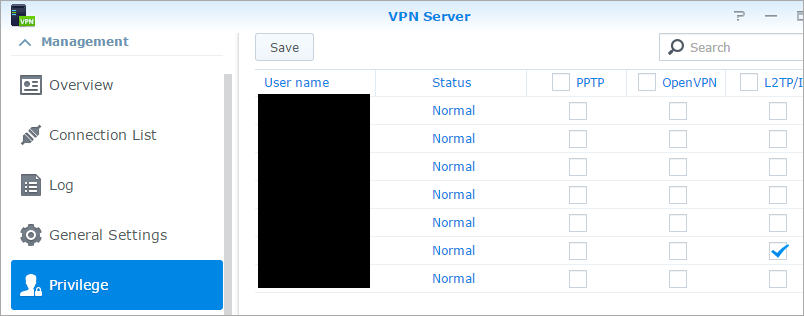 VPN Server in Synology