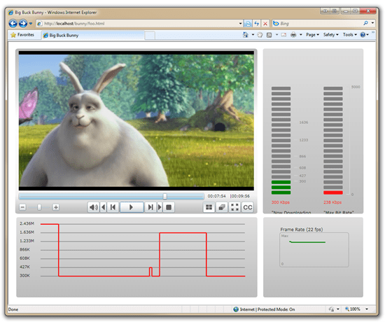 Big Buck Bunny in Silverlight Smooth Streaming