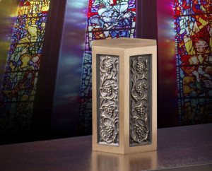 Urn at Church | Hansen-Spear Funeral Home - Quincy, Illinois