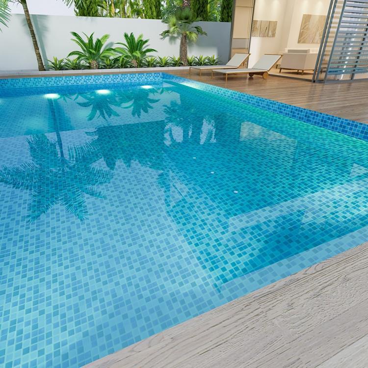 blue mosaic pool tiles pool mosaics