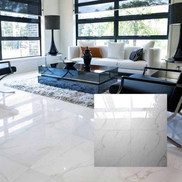 cheap calacatta white porcelain tile