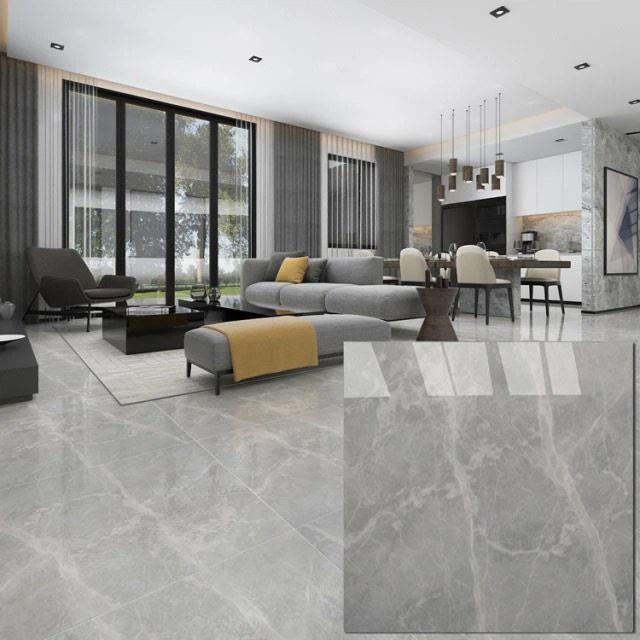 600x600 mm grey white porcelain tile