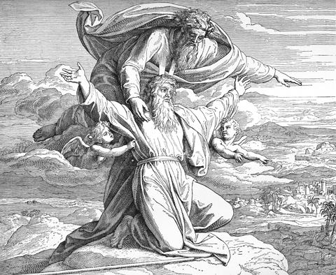 Bilder Der Bibel Mose Sieht Das Verheisene Land