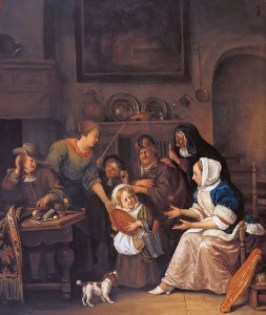 a Sint Jan Steen, Het Sint Nicolaasfeest 1670 - 75