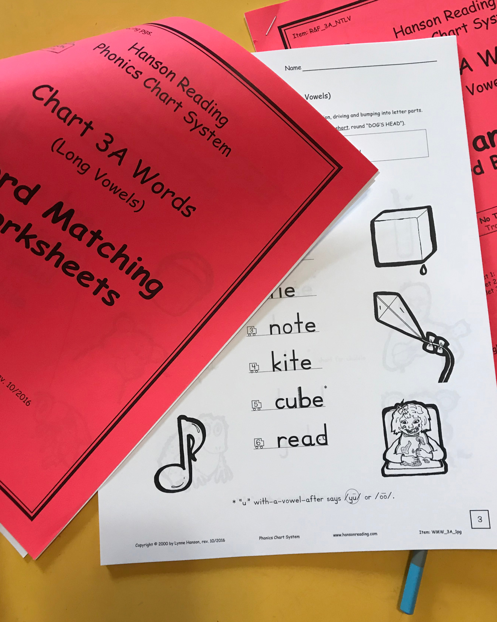 Chart 3 Word Pack Long Vowel Practice Get Quick At Long