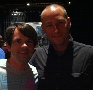 Charlie and me at a Milwaukee show (April 2012)