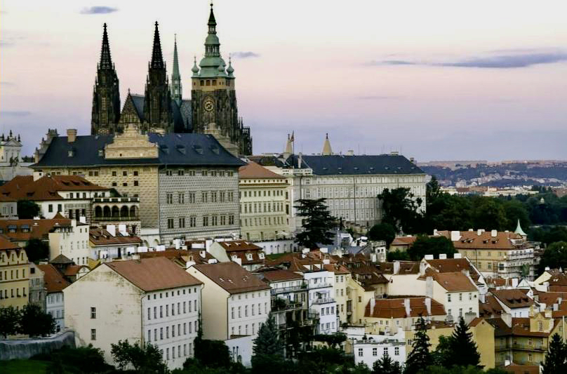 prague Cathedral on Hill