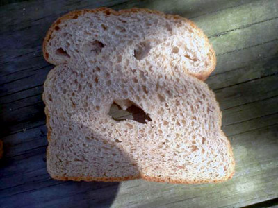 Spooky Bread Face
