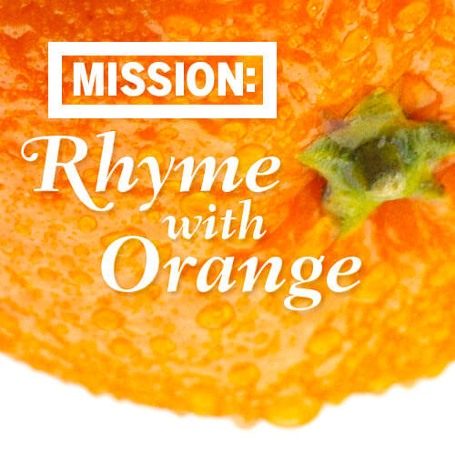 Rhyme with Orange