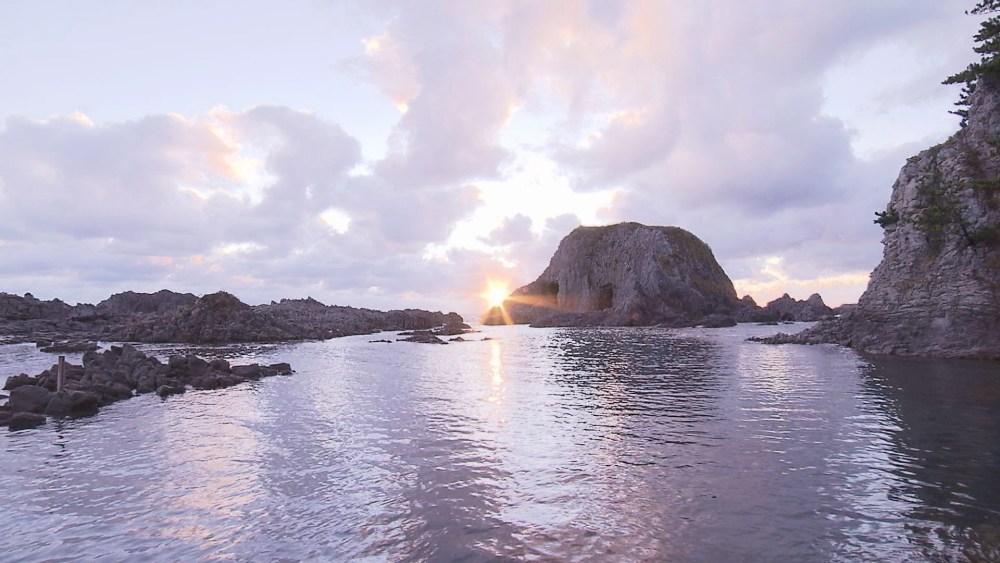 日本海に臨む、自然が生み出すエネルギーを感じられる絶景