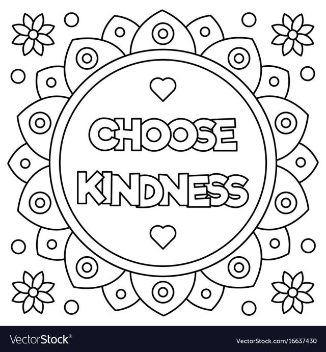 29 Printable Kindness Coloring Pages for Children or Students