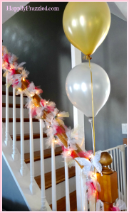 DIY Tulle and Twinkle Light Garland | HappilyFrazzled.com