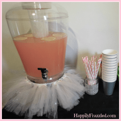 Tutu Drink Dispenser | HappilyFrazzled.com
