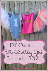 DIY Outfit for the Birthday Girl |HappilyFrazzled.com