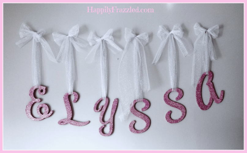 5 Ways to Decorate with Glitter | Make a Banner | HappilyFrazzled.com