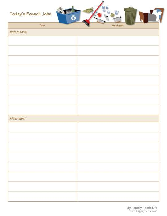 Pesach Chore Checklist_Page_1