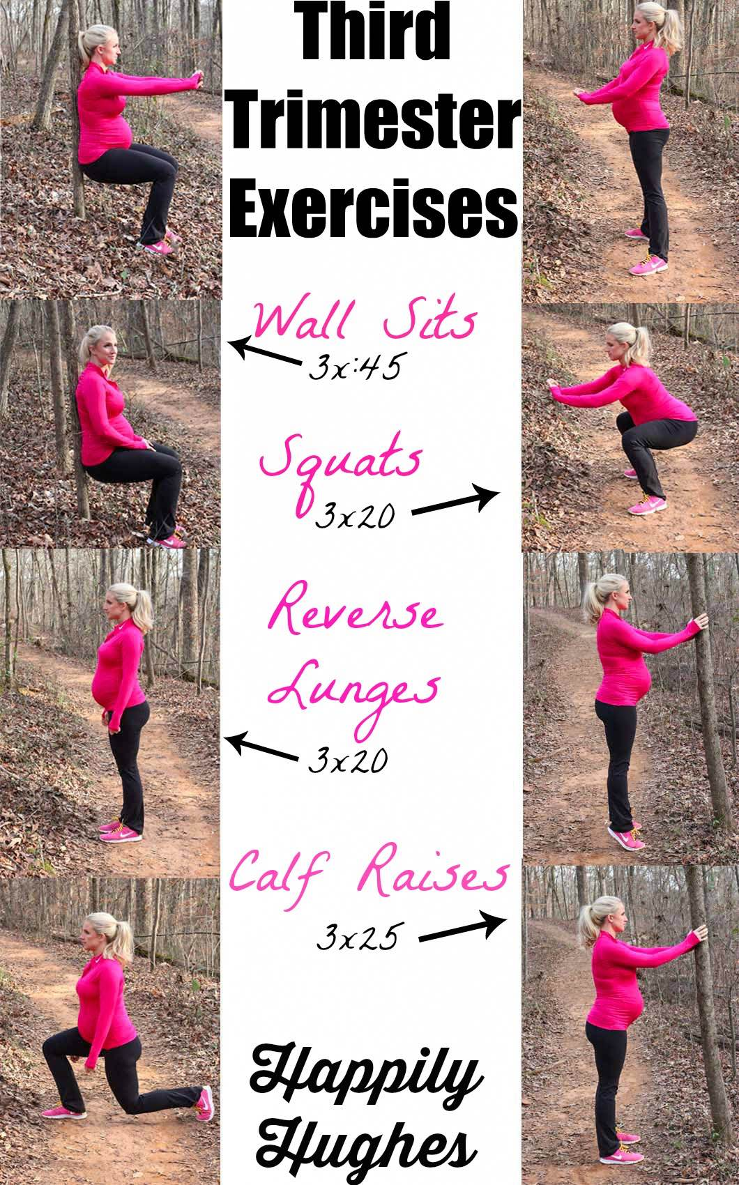 Third Trimester Exercise Routine | Prenatal Exercise | Healthy Mom | Labor and Delivery | featured by popular Atlanta fitness blogger Happily Hughes