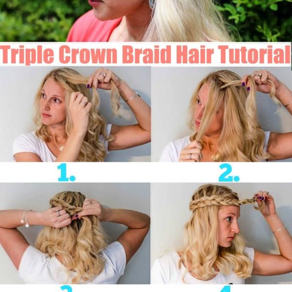 Triple Crown Braid Tutorial