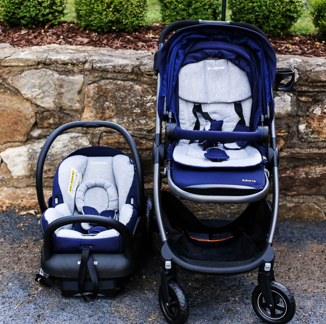 Maxi Cosi Adorra Travel System by lifestyle blogger Jessica of Happily Hughes