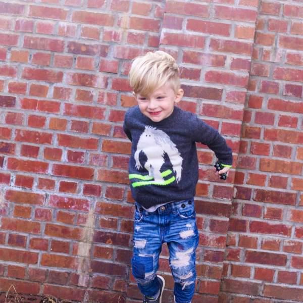 Toddler Boy Jumping Fashion