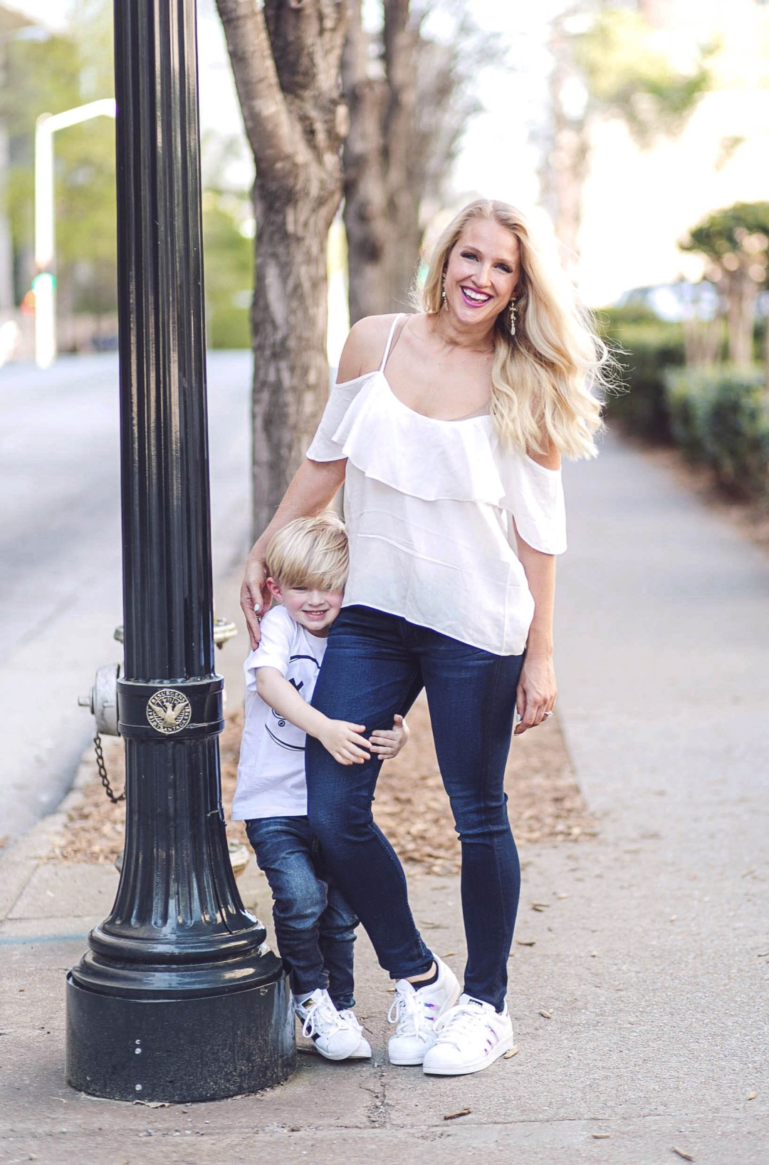 Matching Mother Son Outfits with Zappos by Atlanta fashion blogger Jessica from Happily Hughes
