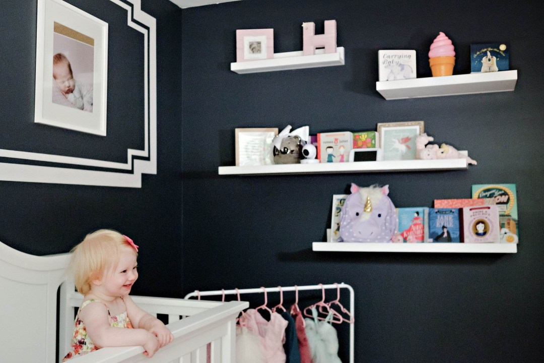 Girls Toddler Room Makeover by Atlanta mom blogger Happily Hughes
