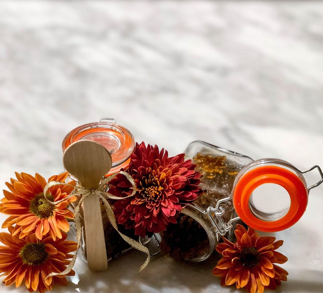pumpkin body sugar scrub - Holiday Sugar Body Scrub by Atlanta style blogger Happily Hughes