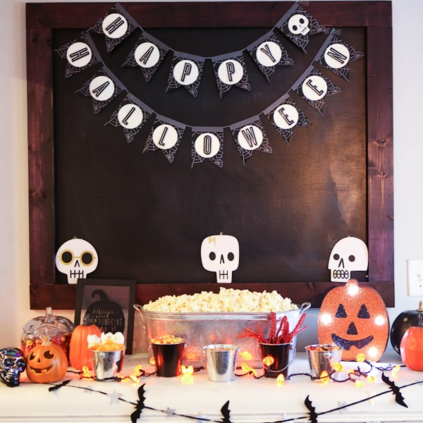 halloween popcorn bar DIY