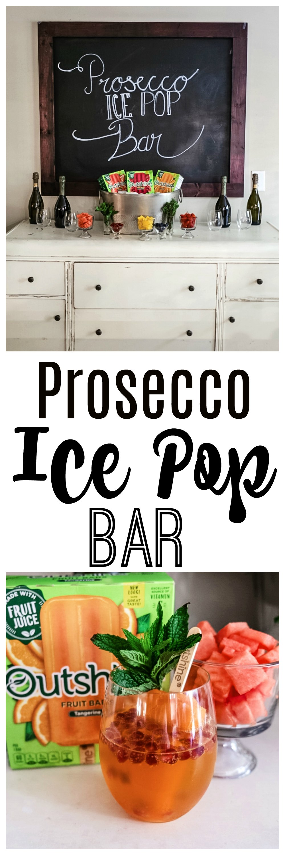 Prosecco Ice Pop Bar featured by popular Atlanta lifestyle blogger Happily Hughes